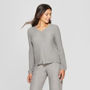 Gilligan OMalley Gray Cozy Raglan Sleep Sweatshirt